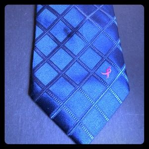 Susan G Komen knots for the Cure Blue Men's Tie